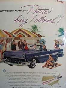 Pontiac Do Not Look Now Ad 1957
