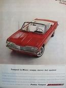 Pontiac Snappy Mover Ad 1962