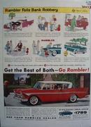 Rambler Foils Bank Robbery Ad 1958