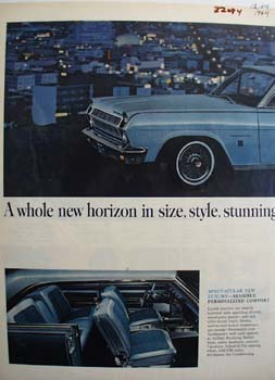 Rambler Whole New Horizon Ad 1964