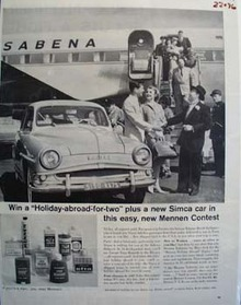 Simca Win A Holiday Abroad Ad 1959