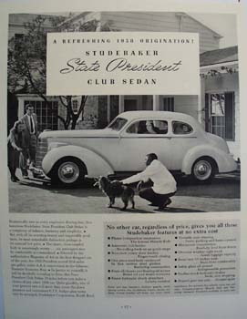 Studebaker Refreshing 1938 Origination Ad