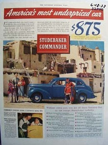 Studebaker Amerrica's Most Underpriced Car Ad 1938