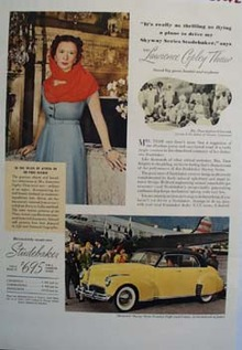 Studebaker And Mrs. Lawrence Copley Thaw Ad 1941