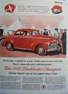 Studebaker Strikingly Original In Style Ad 1941
