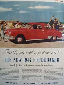 Studebaker First With Postwar Car Ad 1946