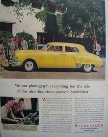 Studebaker Photographs All But Ride Ad 1947