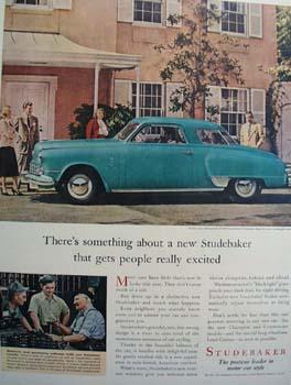 Studebaker Gets People Excited Ad 1947