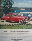 Studebaker Outside A New Look Ad 1948