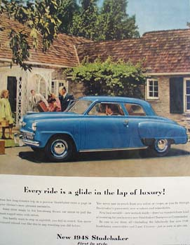 Studebaker In The Lap Of Luxury Ad 1948