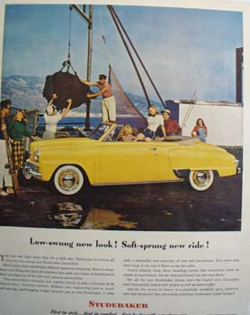 Studebaker Low Swung New Look Ad 1953