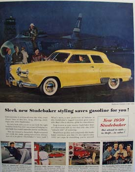 Studebaker Saves Gasoline For You Ad 1950