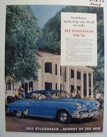 Studebaker Steps Out Ahead Ad 1952