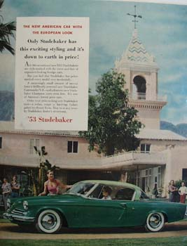 Studebaker American Car European Look Ad 1953