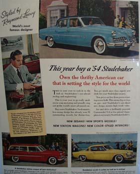 Studebaker Thrifty American Car Ad 1954