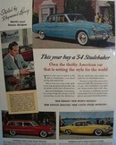 Studebaker Thrifty American Car Ad 1954