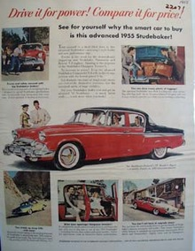Studebaker Drive It For Power Ad 1955