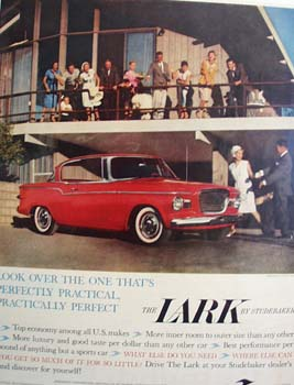 Studebaker Lark Look Over The One Ad 1959