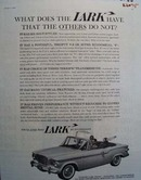 Studebaker What Does Lark Have Ad 1960