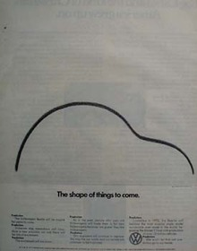 Volkswagen Shape Of Things to Come Ad 1971