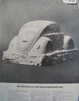 Volkswagen We Do Not Have Tot Start From Scratch Ad 1969