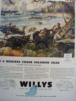 Willys Marines Crash Solomon Isles Ad 1943