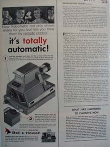 Bell And Howell Totally Automatic Ad 1956