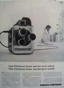 Fairchild Camera Christmas Ad 1960