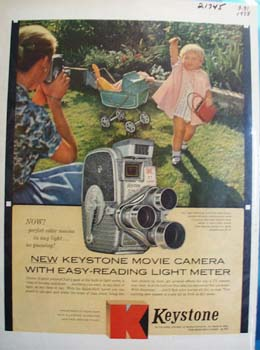 Keystone Camera Little Girl Pink Coat Ad 1958