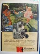 Keystone Camera Little Girl Pink Coat Ad 1958