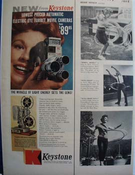 Keystone Camera Miracle of Light Ad 1958