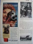 Keystone Camera Electric Eye Movie Camera Ad 1959