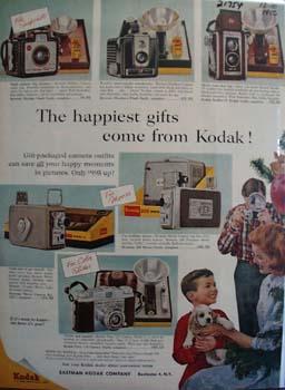 Eastman Kodak Christmas Ad 1956