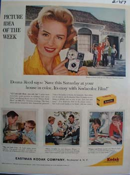 Eastman Kodak And Donna Reed Ad 1960