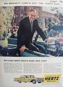 Hertz Rent A Car Mr Bennett Cerf Ad 1958