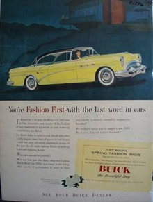 Buick You're Fashion First Ad 1954