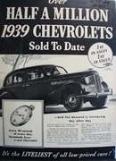 Chevrolet Half A Million Sold Ad 1939