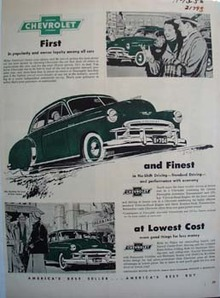 Chevrolet First And Finest Ad 1950