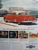 Chevrolet Brings Smoother Safer Stops Ad 1952