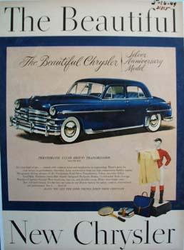 Chrysler Silver Anniversary Model Ad 1949