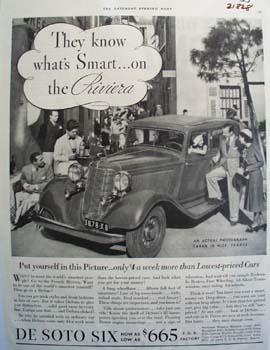De Soto Whats Smart On The Riviera Ad 1933