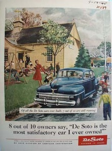 De Soto Little Children At School Ad 1945