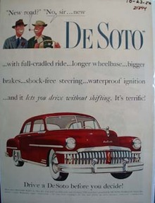 De Soto New Road No New De Soto Ad 1950