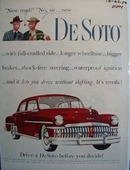 De Soto New Road No New De Soto Ad 1950