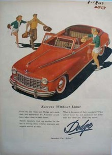 Dodge Success Without Limit Ad 1947