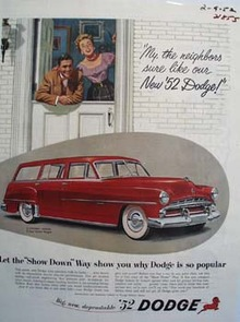 Dodge Neighbors Sure Like Our New Dodge Ad 1952