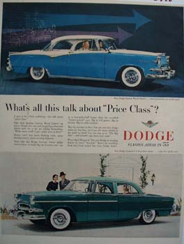 Dodge Talk About Price Class Ad 1955