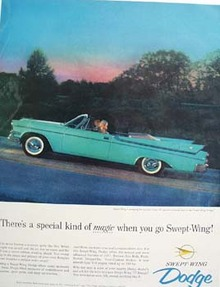 Dodge Magic When You Go Swept Wing Ad 1957