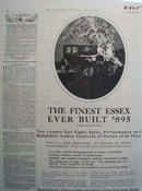 Essex Finest Ever Built Ad 1925