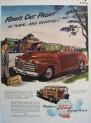 Ford In Town And Country Ad 1946